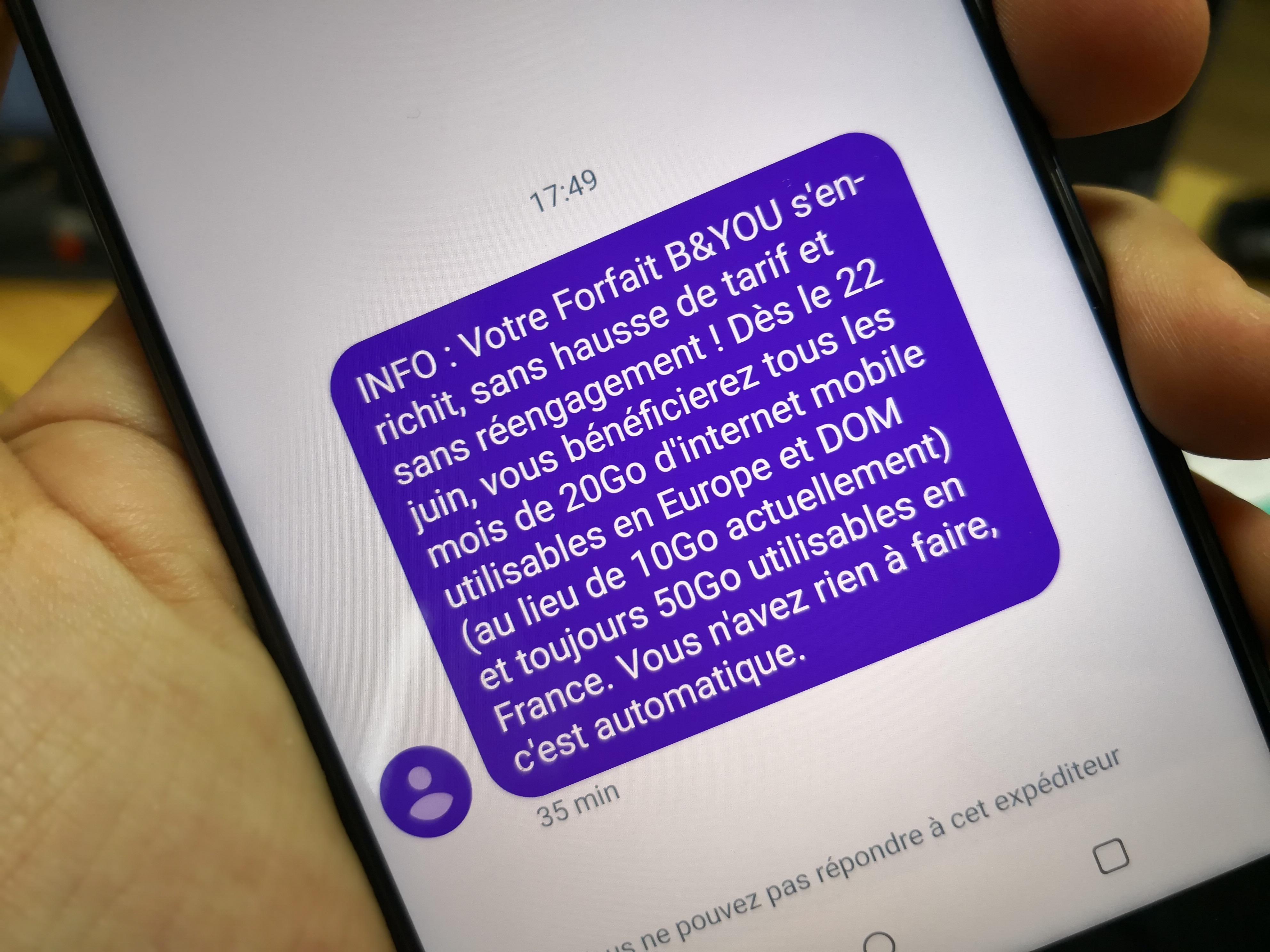 B&YOU offre 10 Go de données mobiles en Europe et dans les DOM à ses clients