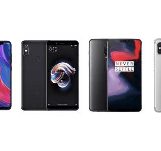 OnePlus 6 à 421 euros, Xiaomi Mi 8 à 395 euros, et Redmi Note 5 à 145 euros en stock limité