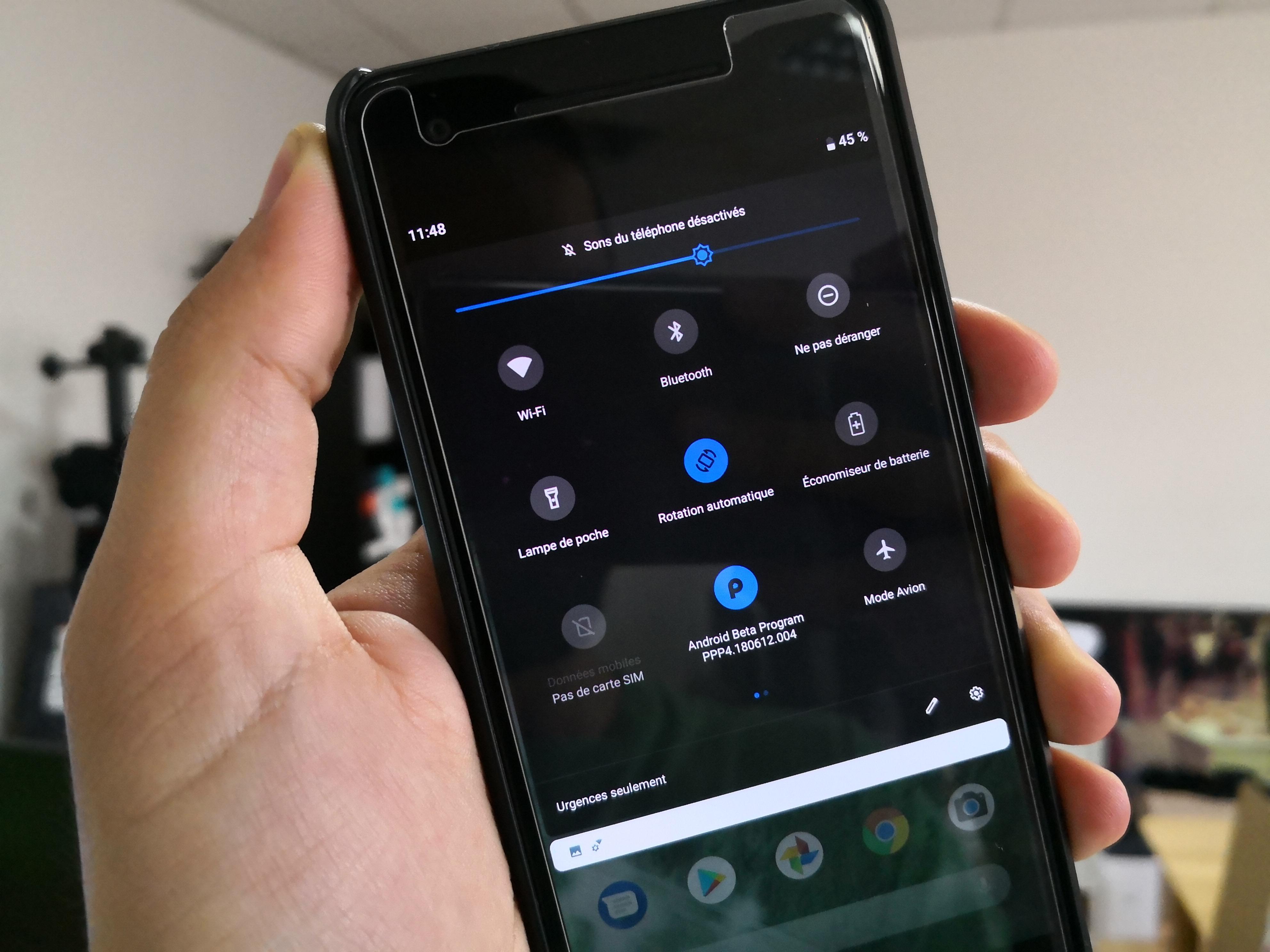 Android P : le choix d'un thème sombre est (enfin) intégré