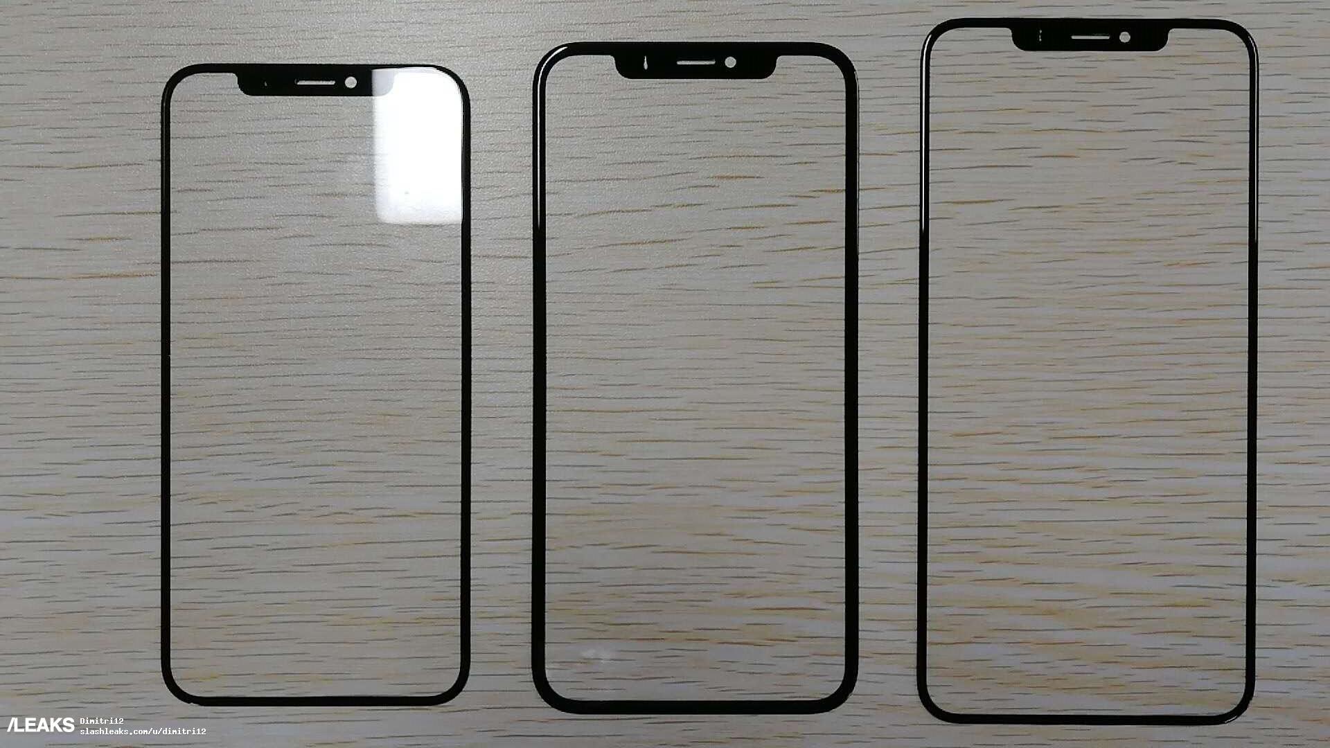 iPhone 2018 : un avant-goût du design des 3 versions grâce à un aperçu des faces avant