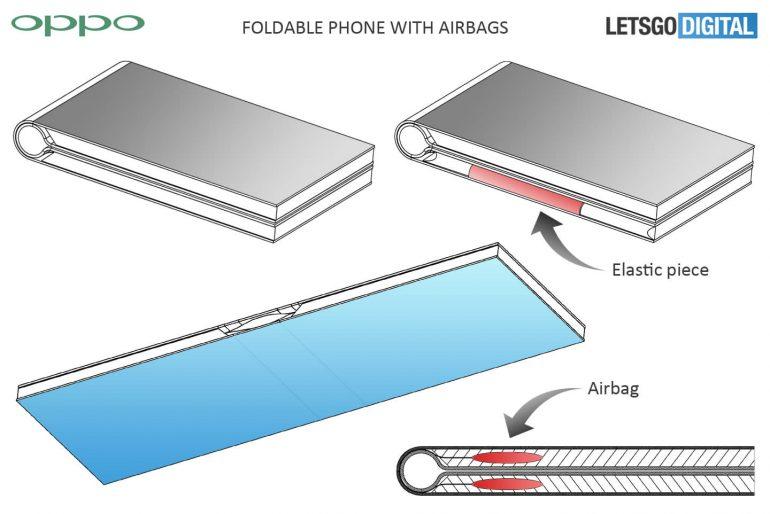 Oppo imagine quatre prototypes de smartphones pliables, dont un avec airbag
