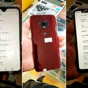Le Motorola Moto G7 se dévoile avec une encoche en forme de goutte