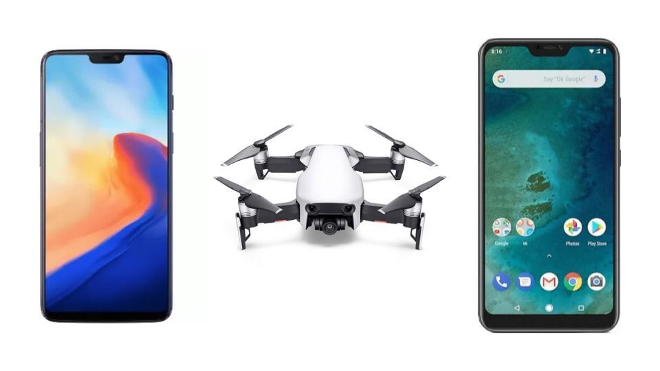 DJI Mavic Air à 617 euros, OnePlus 6 à 418 euros et Xiaomi Mi A2 Lite à 148 euros