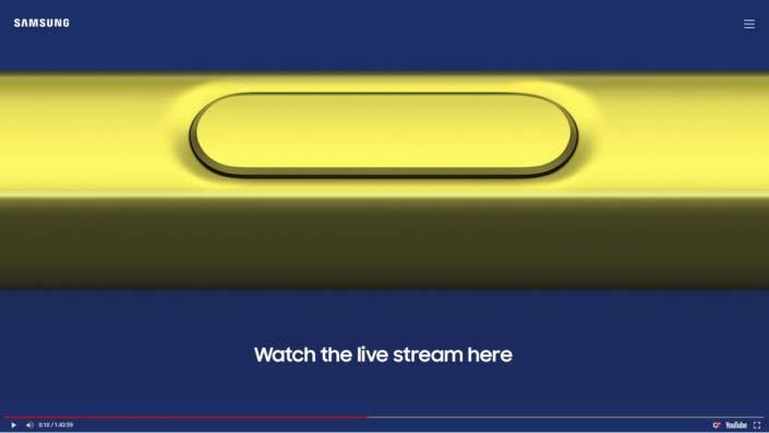 Galaxy Note 9 : comment suivre la conférence Samsung Unpacked en direct à 17h