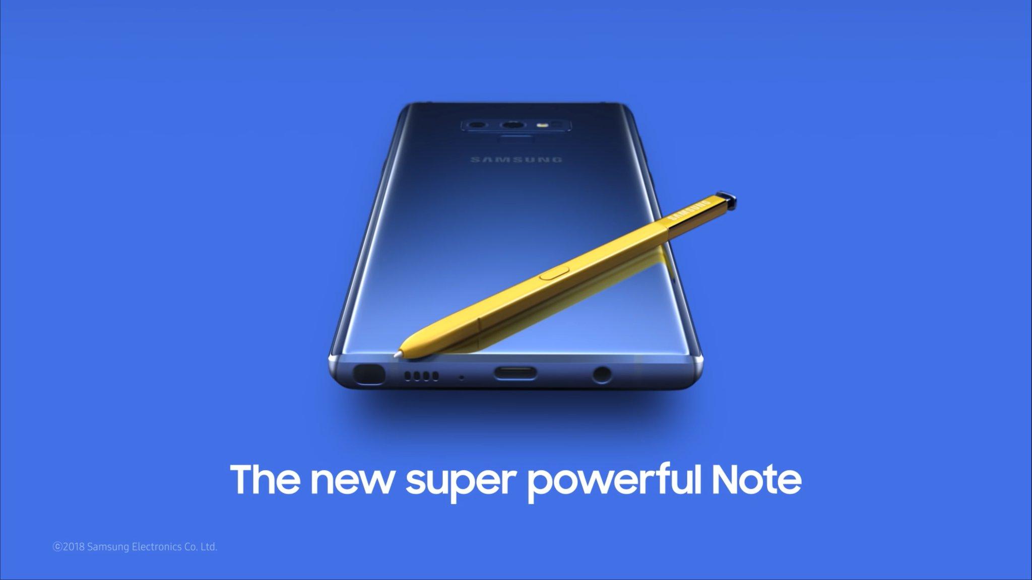 Le Samsung Galaxy Note 9 est disponible à l'achat chez Boulanger