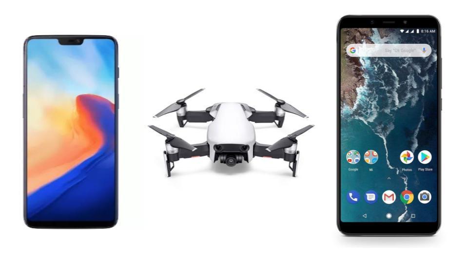Déstockage high-tech : OnePlus 6 à moins de 400 euros, Xiaomi Mi A2 à moins de 200 euros et DJI Mavic Air à moins de 600 euros