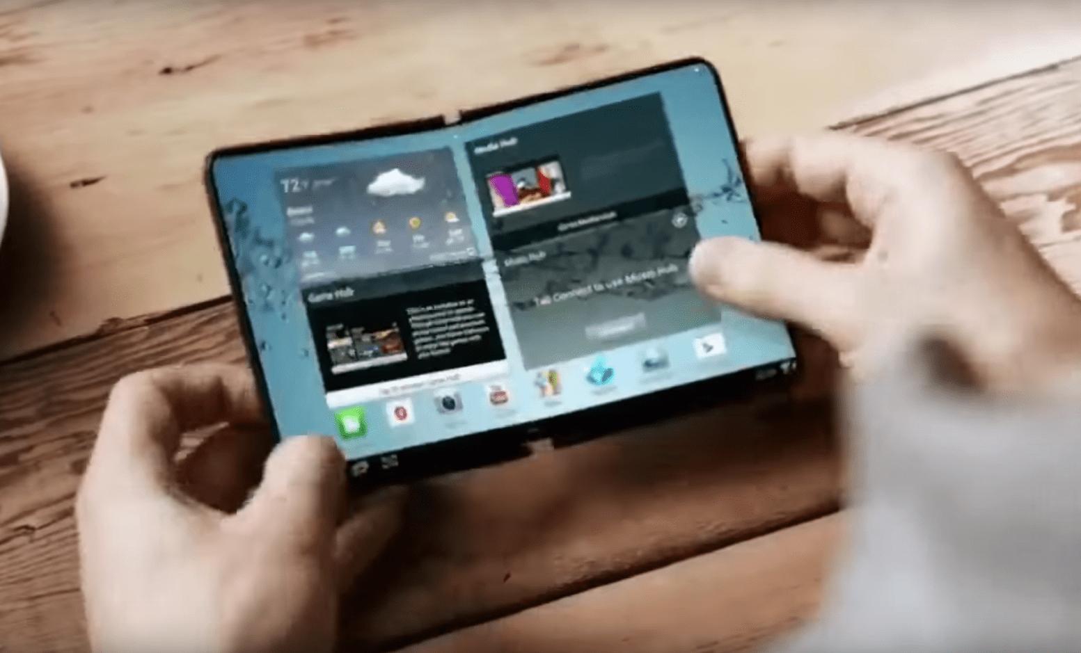 Le smartphone à écran pliable de Samsung sera présenté en novembre
