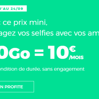 🔥 Dernier jour : forfait mobile 4G avec 40 Go pour 10 euros par mois à vie chez RED by SFR