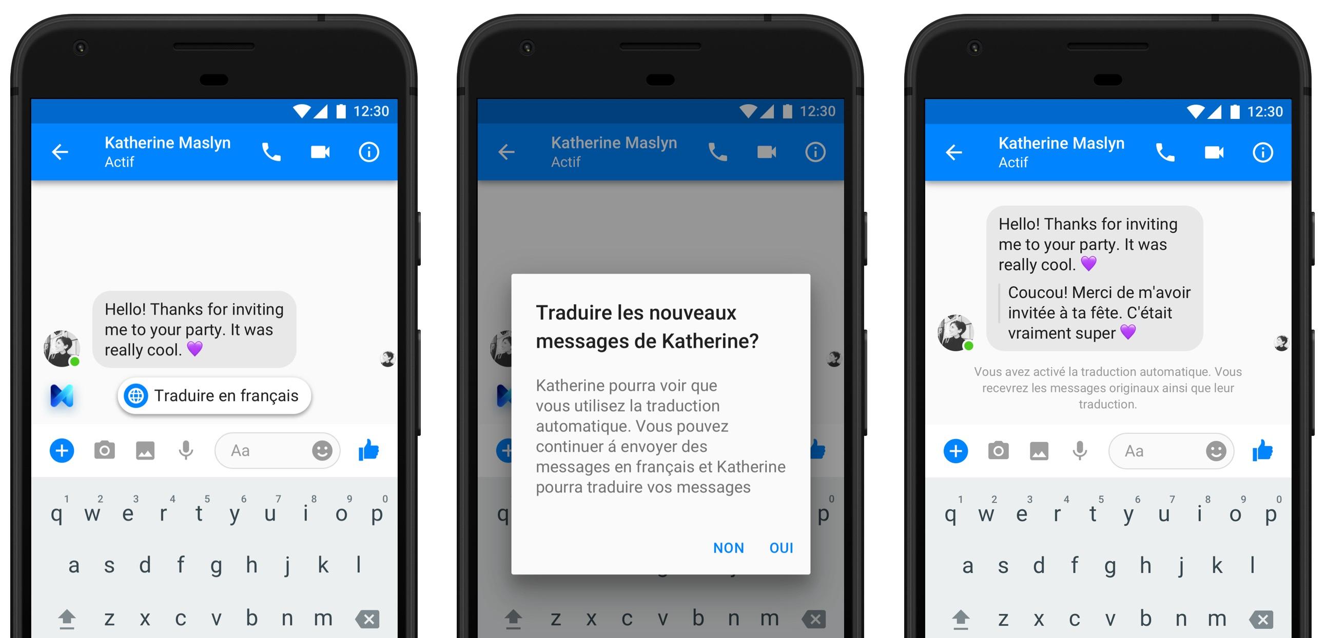 Facebook Messenger traduit instantanément vos discussions du français vers l'anglais (et inversement)