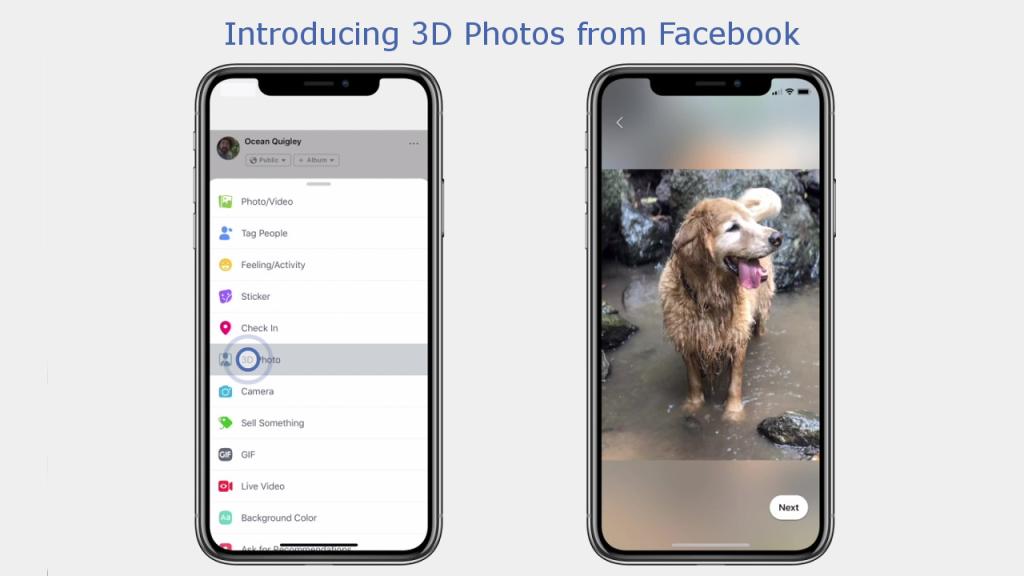 Facebook vous permet désormais d'ajouter un effet 3D à vos photos classiques