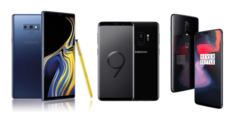 Samsung Galaxy Note 9 à 689 euros, Samsung Galaxy S9 à 494 euros et OnePlus 6 à 379 euros sur eBay