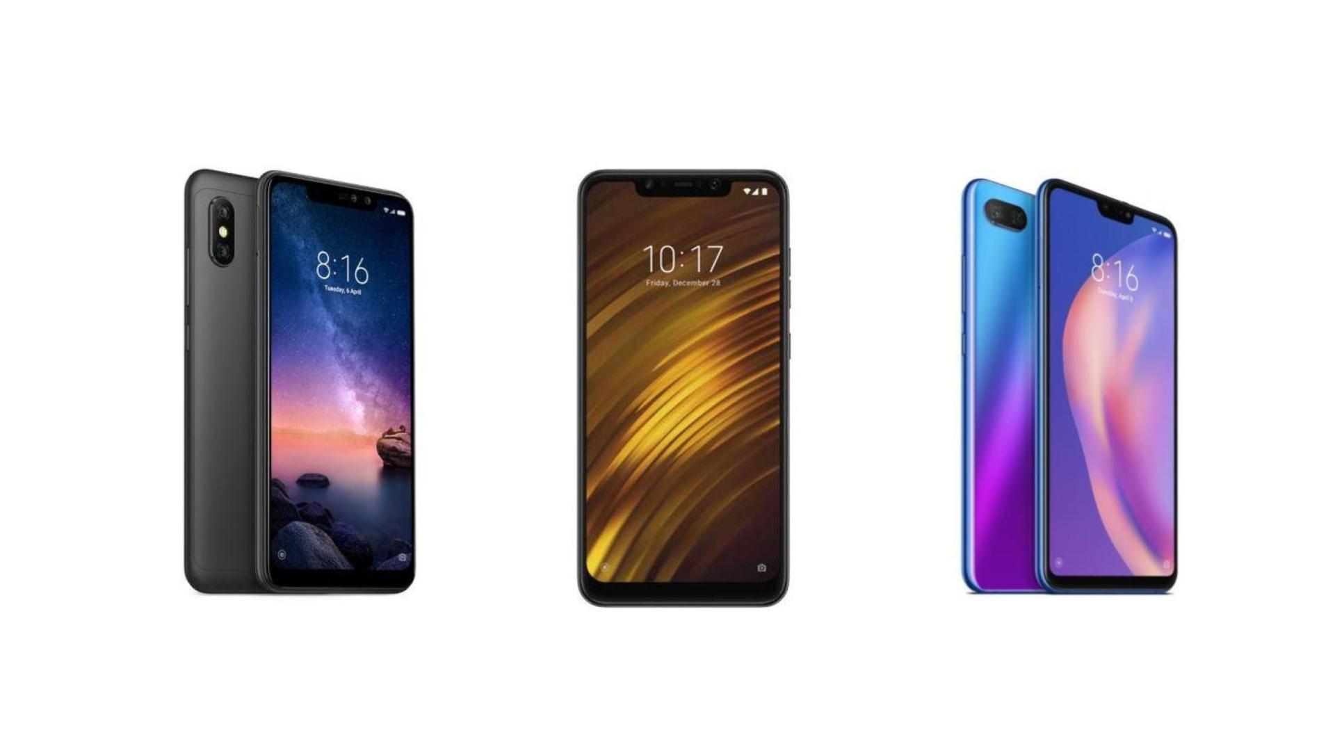 Xiaomi Mi 8 Lite à 235 euros, Xiaomi Redmi Note 6 Pro à 185 euros et Pocophone F1 à 295 euros ce dimanche sur Rakuten
