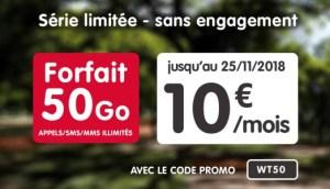 🔥 Bon Plan : forfait mobile 4G NRJ Mobile 50 Go à 10 euros par mois à vie