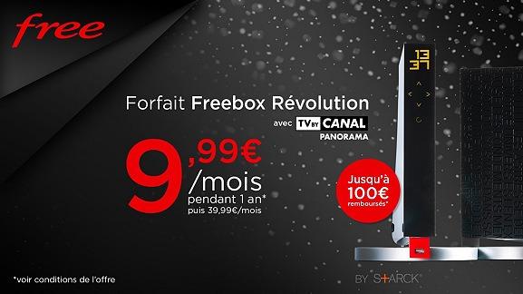 L'abonnement Freebox Révolution encore moins cher avec une vente privée