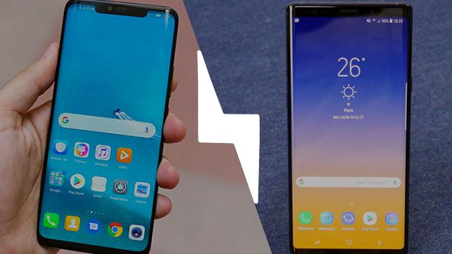 Huawei Mate 20 Pro vs Samsung Galaxy Note 9 : lequel est le meilleur smartphone ? – Comparatif