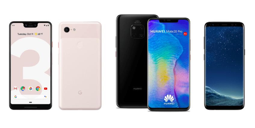 Google Pixel 3 XL à 899 euros, Huawei Mate 20 Pro à 799 euros et Samsung Galaxy S8 à 384 euros pour la Black Friday Week d'eBay