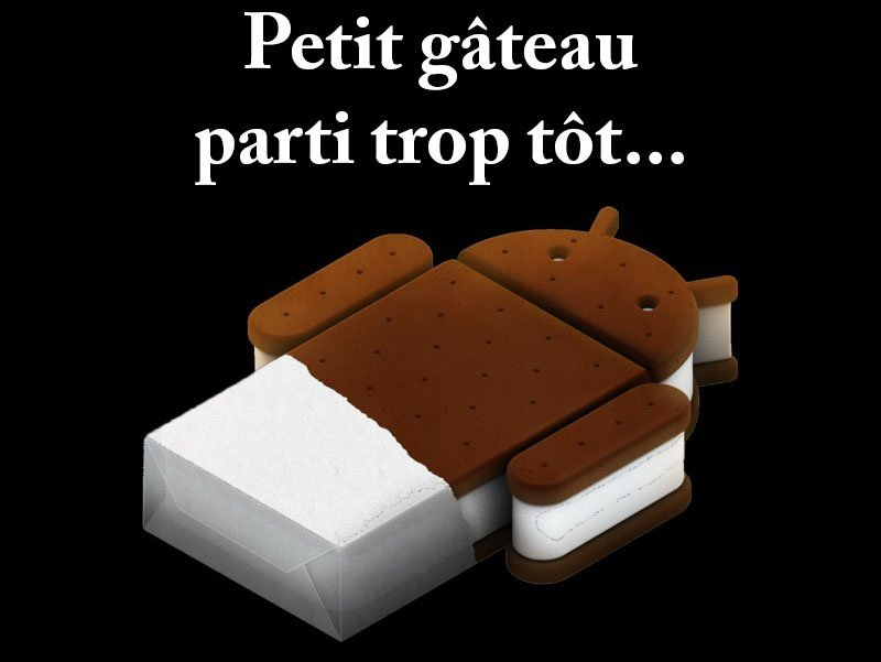 Adieu Android 4.0 Ice Cream Sandwich, le Play Store t'abandonne