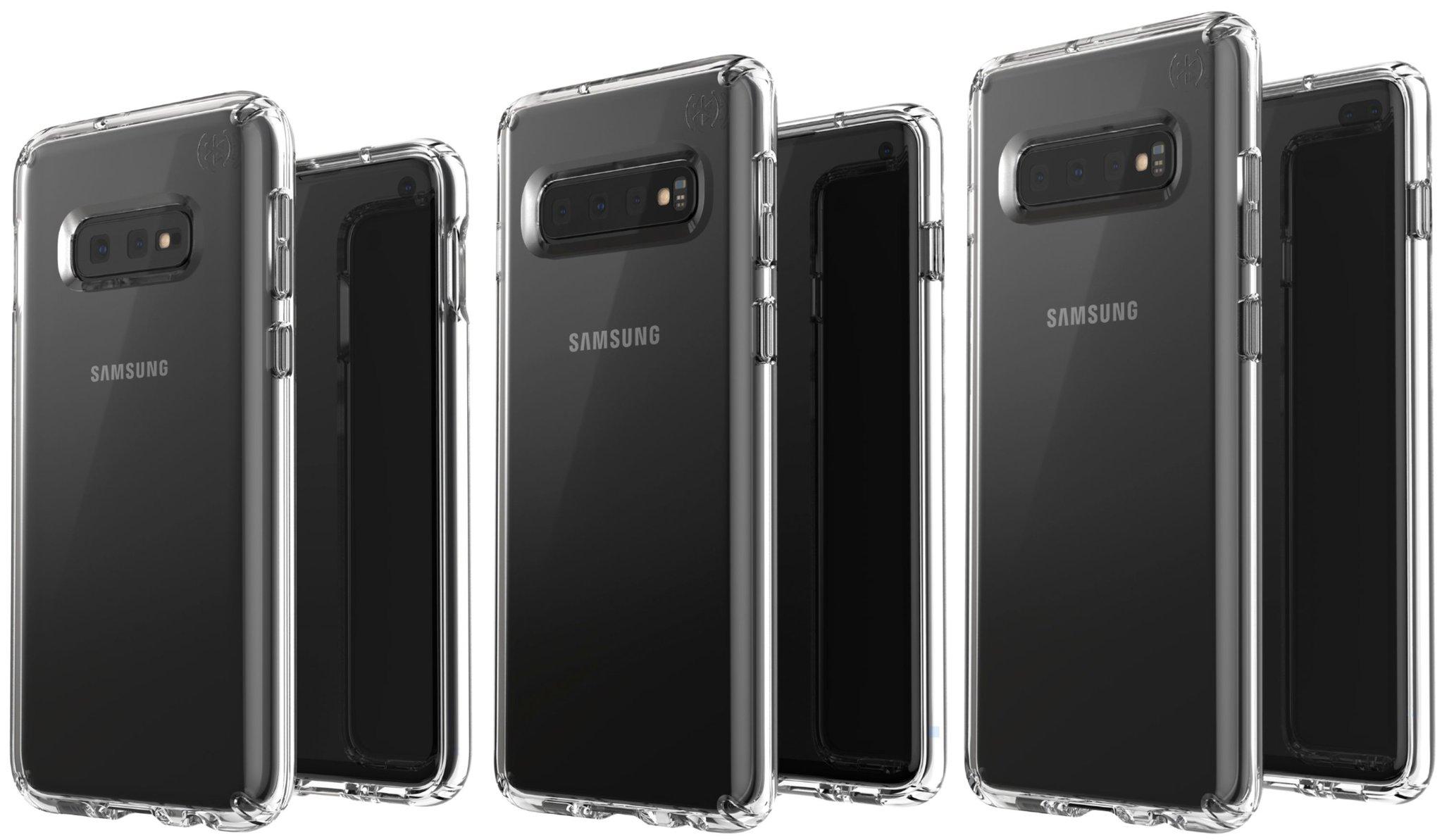 Samsung Galaxy S10 : voilà à quoi devraient ressembler les trois versions avec des coques de protection