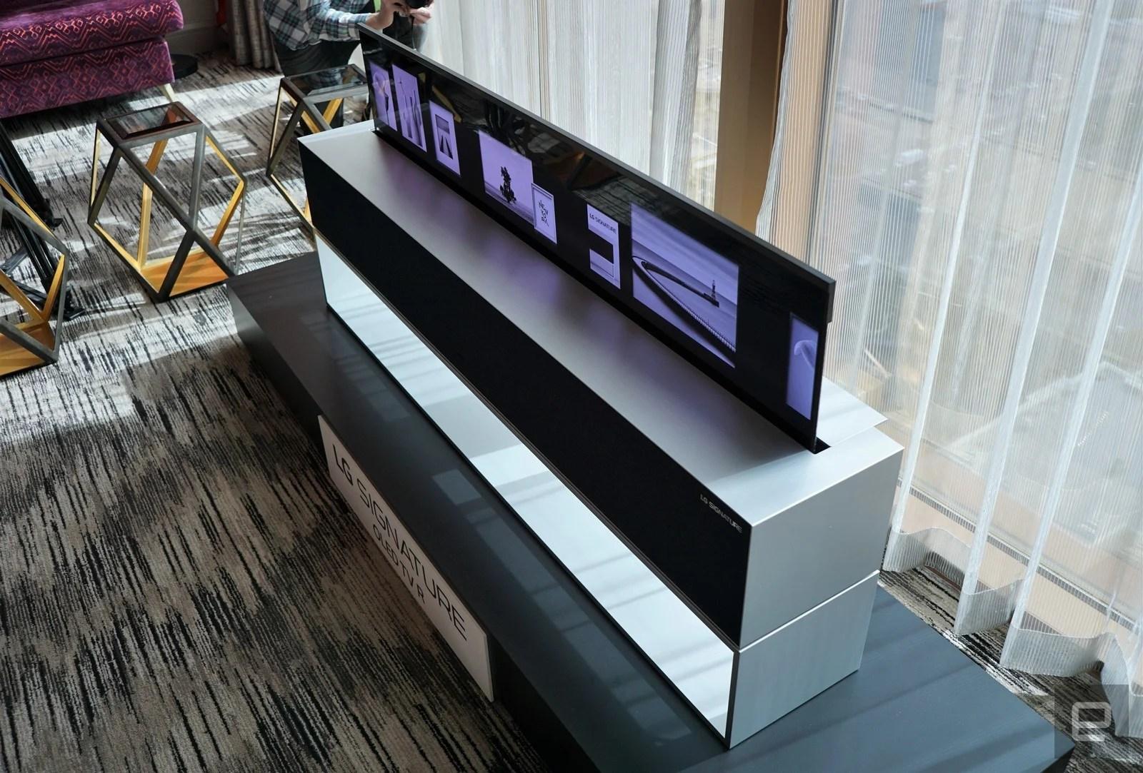 LG Signature OLED TV R : la TV enroulable est une réalité