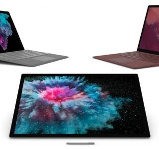 Les Surface Pro 6, Surface Laptop 2 et Surface Studio 2 sont enfin disponibles