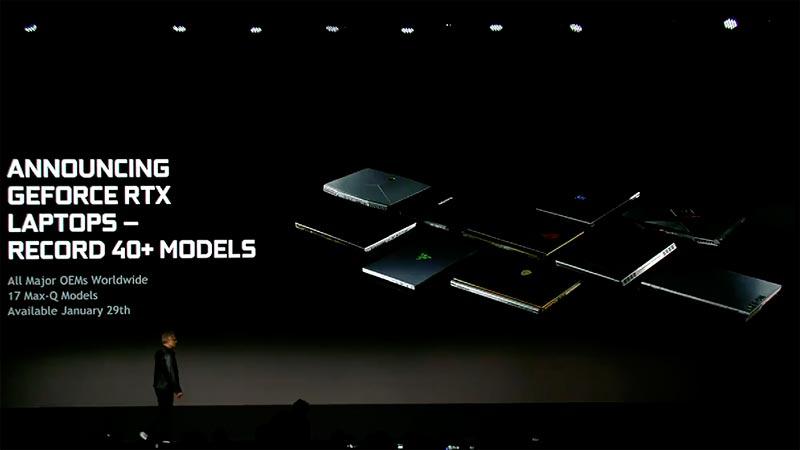 Les Nvidia GeForce RTX 2060, 2070 et 2080 débarquent sur les ordinateurs portables gamers