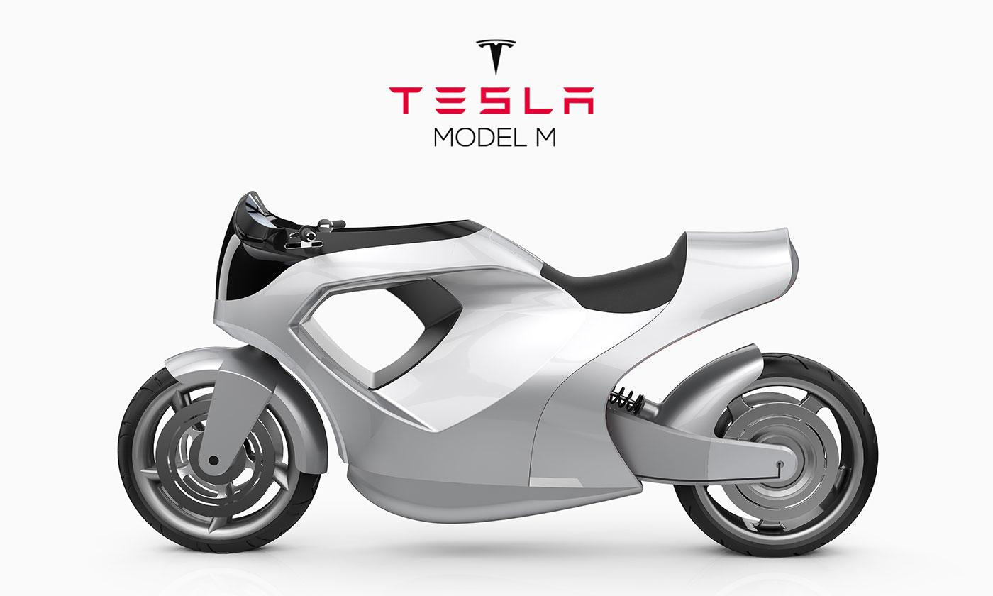 Tesla M : un designer professionnel imagine une moto électrique bardée de technologies