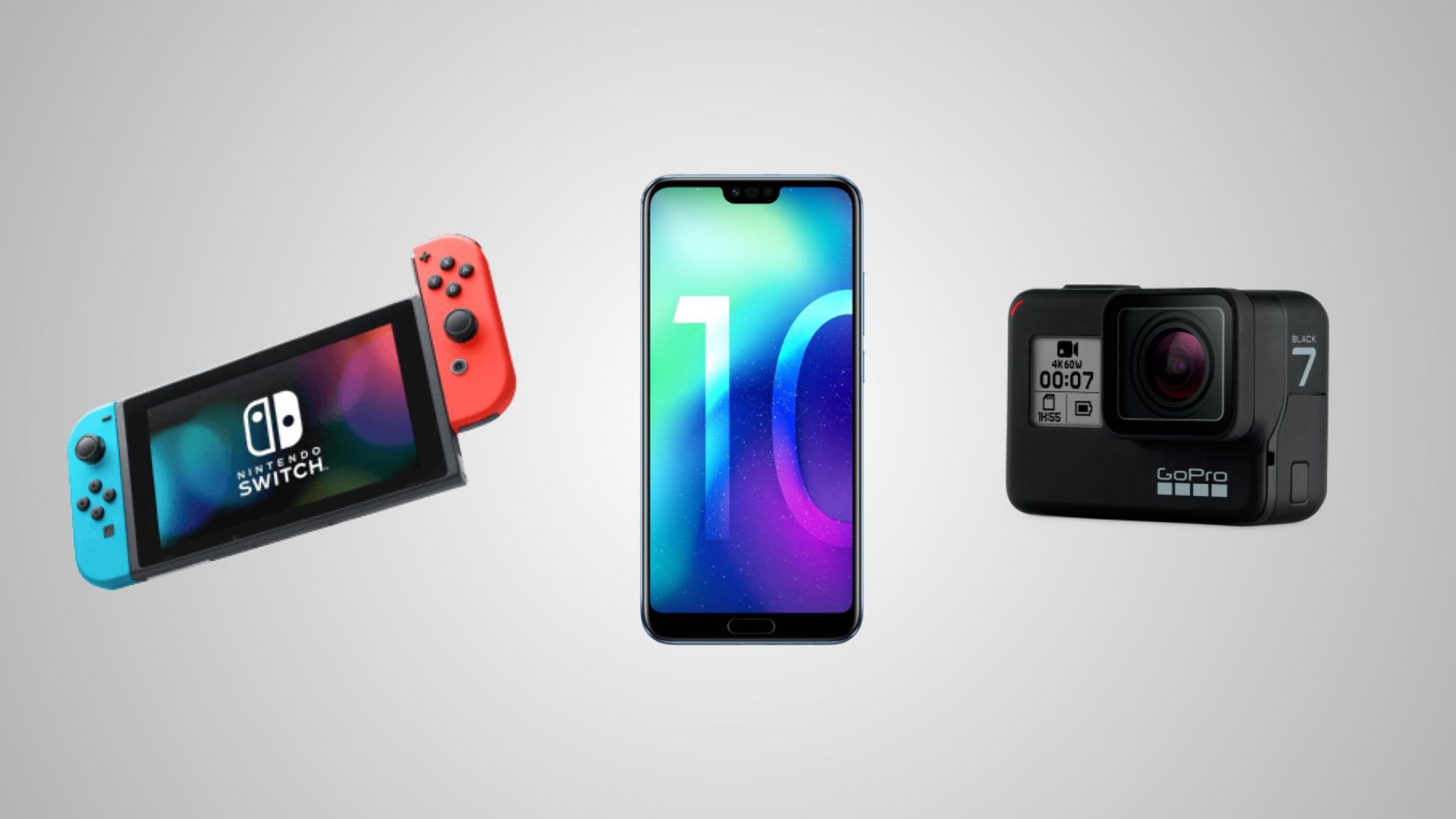 Nintendo Switch à 279 euros, Honor 10 à 299 euros et GoPro Hero7 Black à 349 euros pour le Megapeak Rakuten