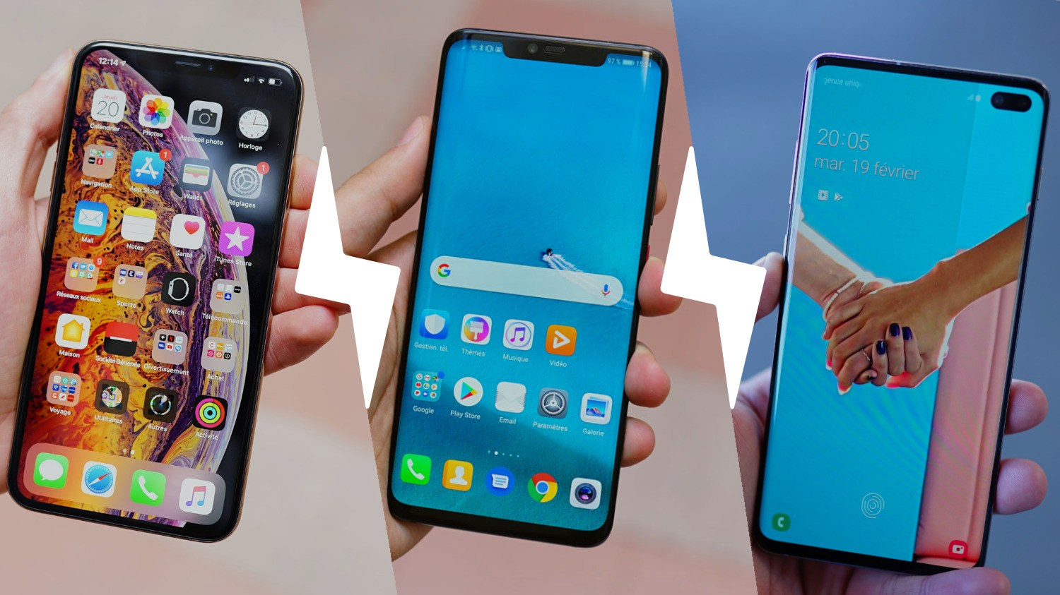 Samsung Galaxy S10+, Huawei Mate 20 Pro et Apple iPhone XS Max : quel smartphone choisir ?