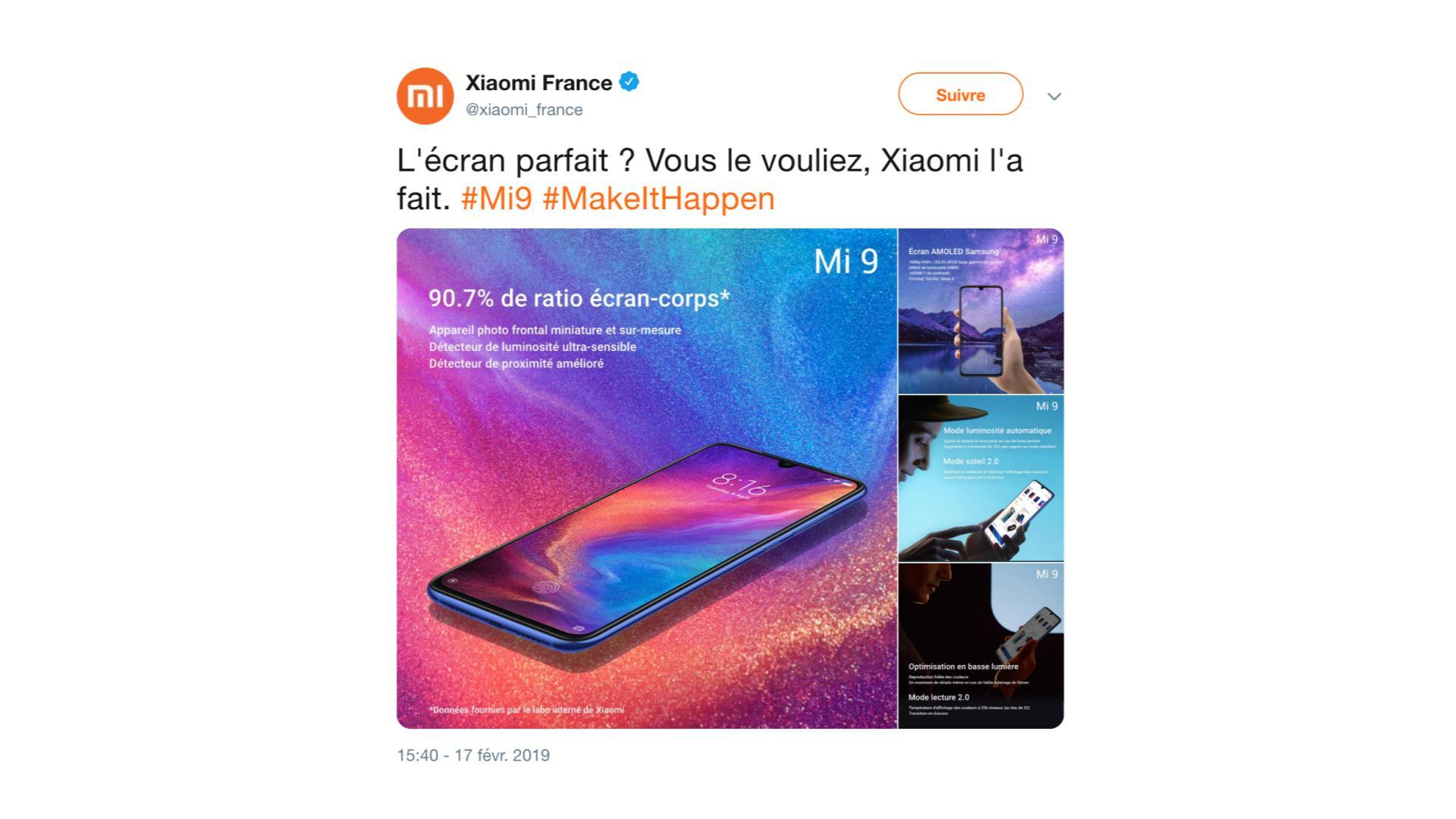 Xiaomi Mi 9 : ses caractéristiques abondent avant l'annonce du Galaxy S10