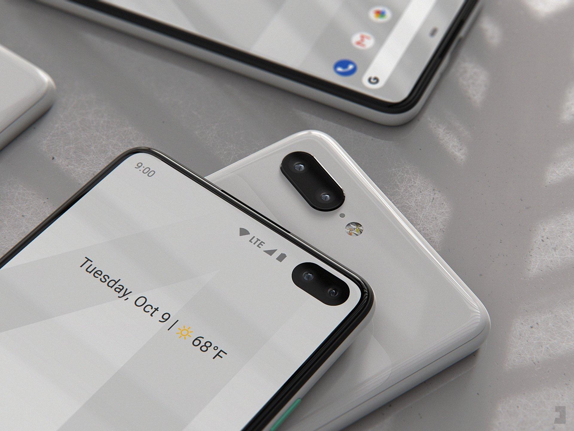 Google Pixel 4 XL : un artiste imagine le smartphone à partir des rumeurs