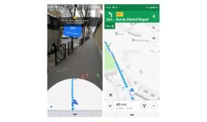 Google Maps : la navigation en réalité augmentée est disponible, nous l'avons testée