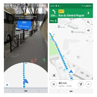 Google Maps: augmented reality navigation is available, we tested it