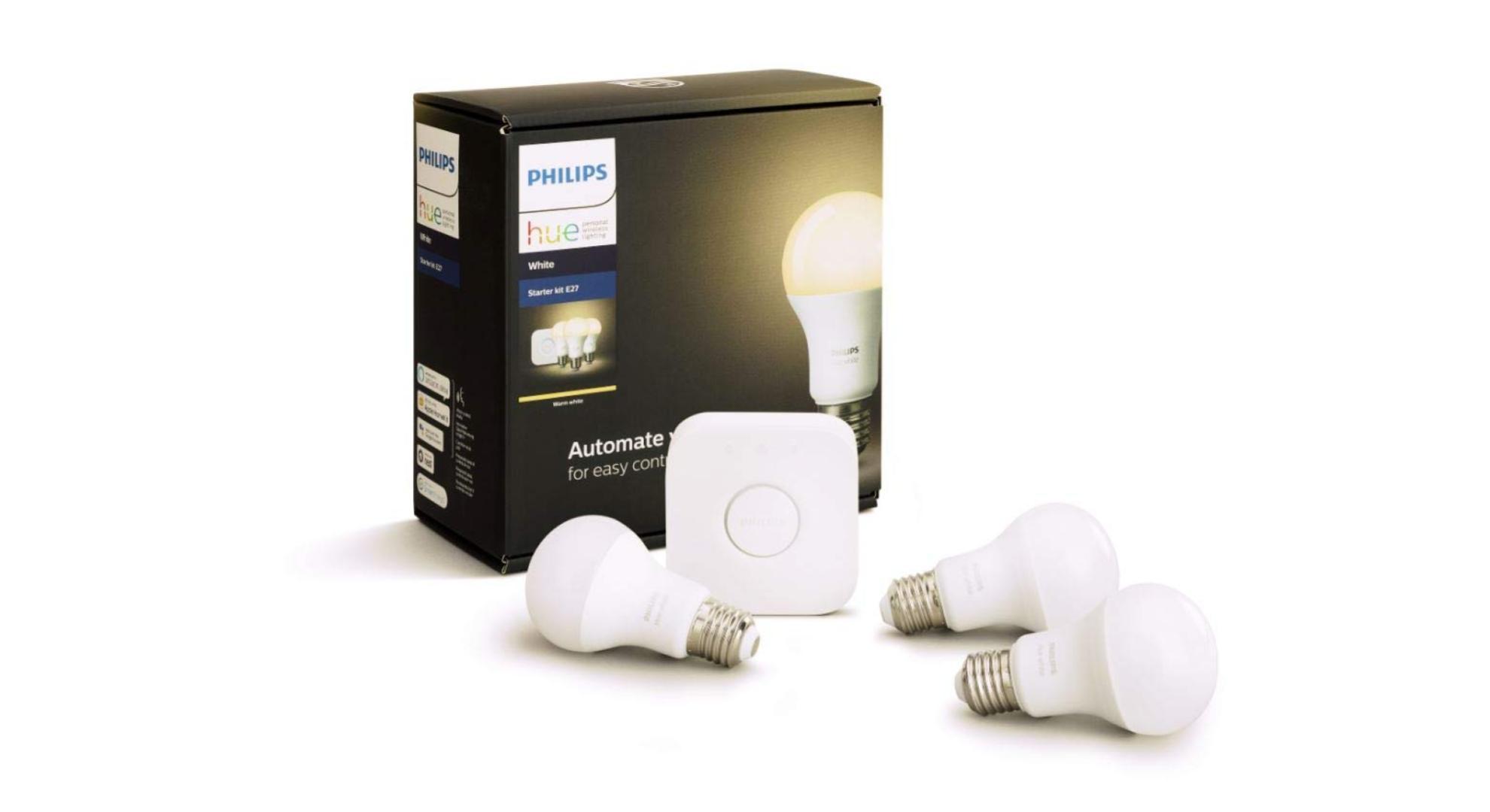 🔥 Bon plan : le kit de démarrage Philips Hue 3 ampoules blanches à 59 euros