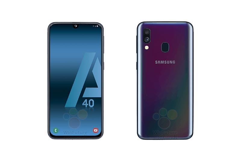 Samsung Galaxy A40 : premiers visuels et caractéristiques en fuite