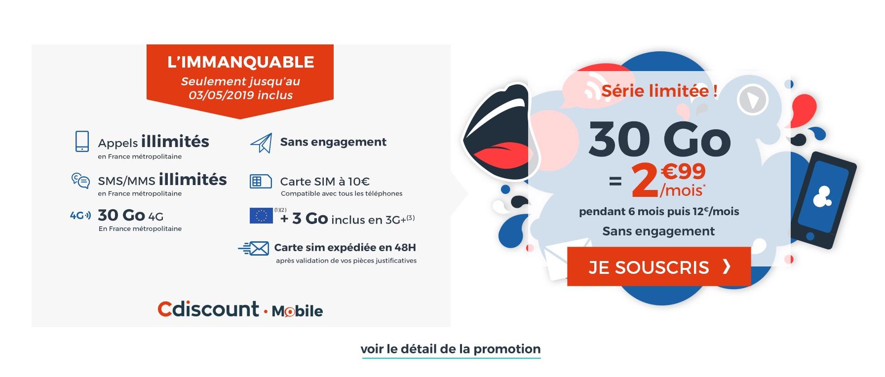 🔥 Dernier jour : 30 Go de 4G pour 2,99 euros par mois via un forfait mobile sans engagement