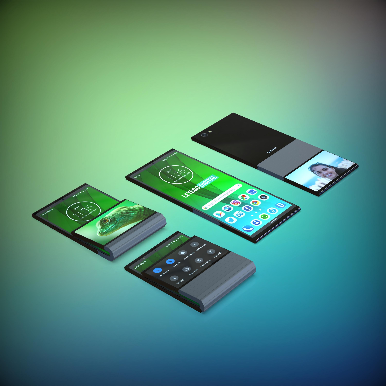 Lenovo songe à un smartphone pliable dans le sens de la longueur