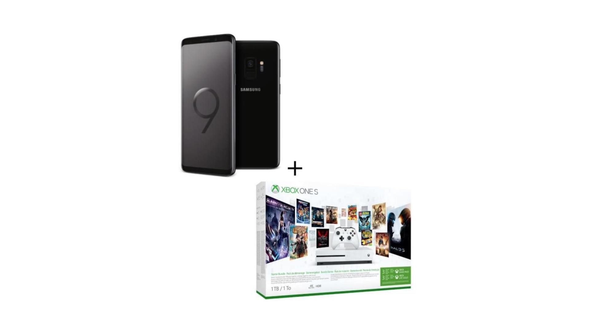 Le pack sympa en promo : Galaxy S9 + Microsoft Xbox One S (1 To) Game Pass + 3 mois de Xbox Live