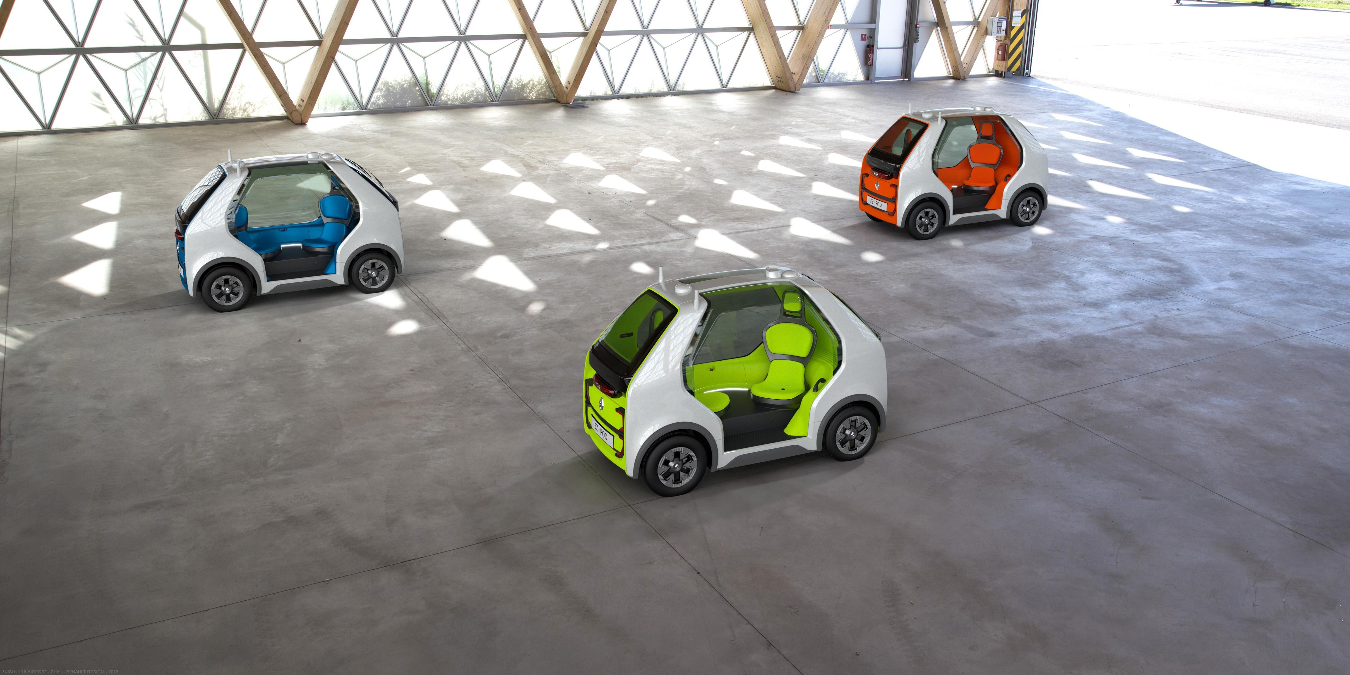 Électrique, autonome et dédié au dernier kilomètre, l'EZ-POD reflète la vision du futur de Renault