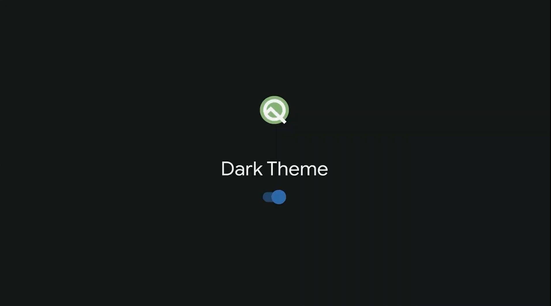 Android 10 Q : le mode sombre sera bien plus simple à activer