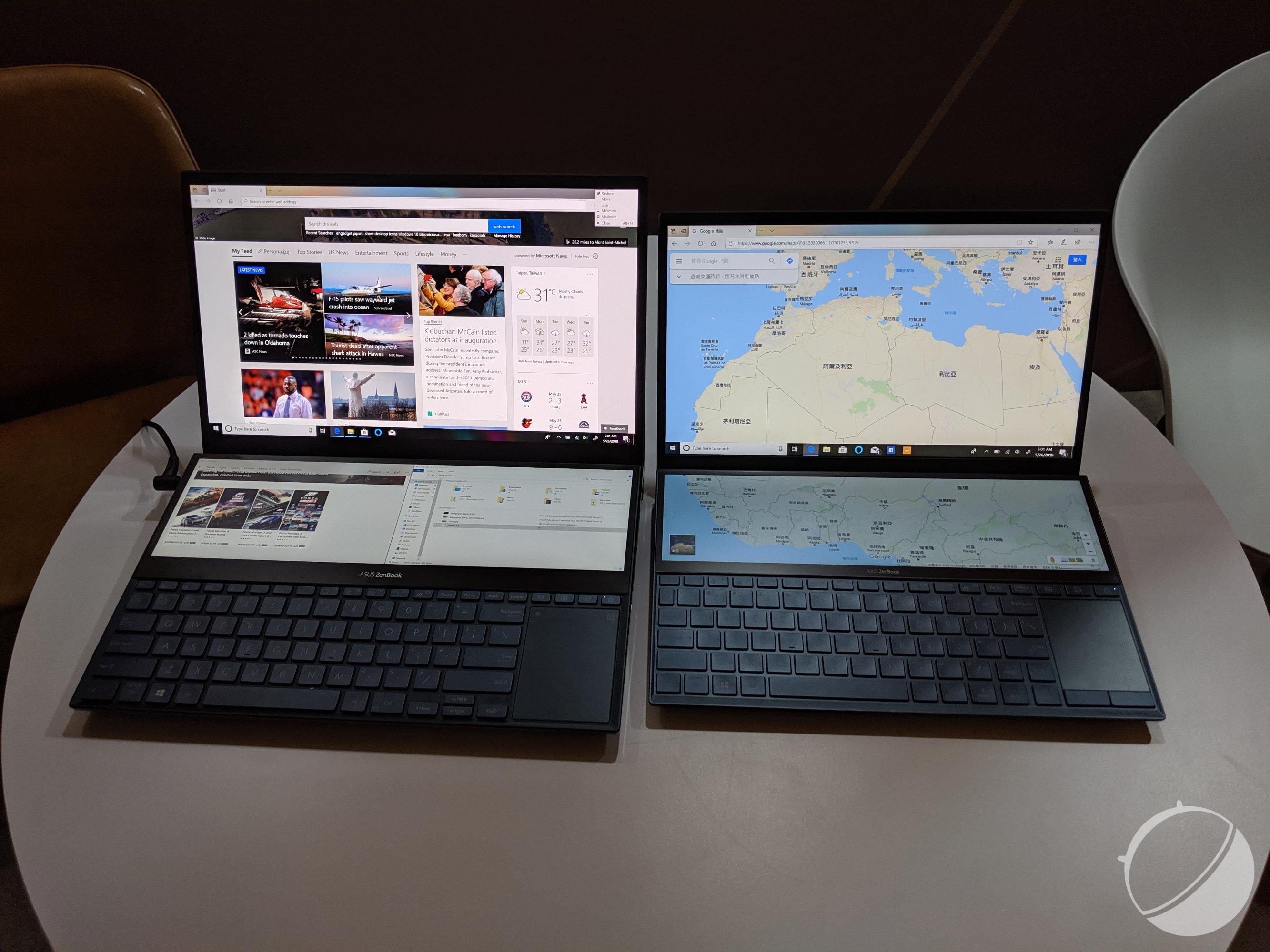 Asus ZenBook Pro Duo : prise en main du PC à deux écrans