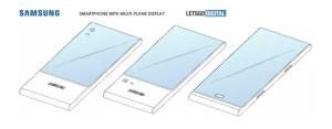 Samsung imagine un écran couvrant les deux faces d'un smartphone dans un brevet