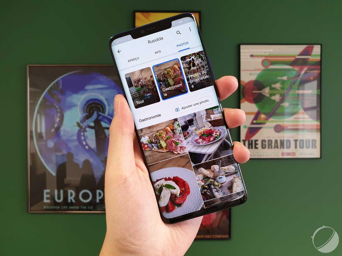 Google Maps teste des menus complets avec photos pour les restaurants