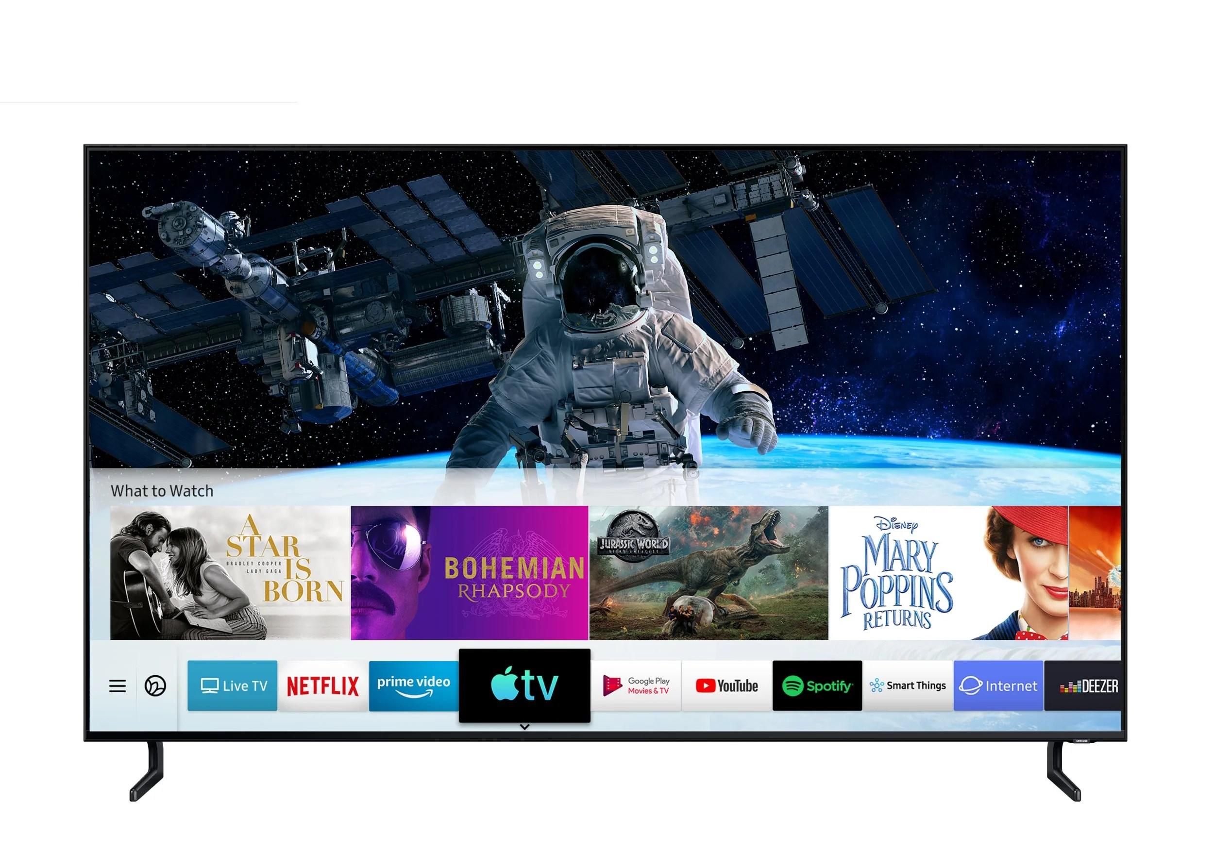 Samsung lance le déploiement d'Apple TV et AirPlay 2 sur ses téléviseurs
