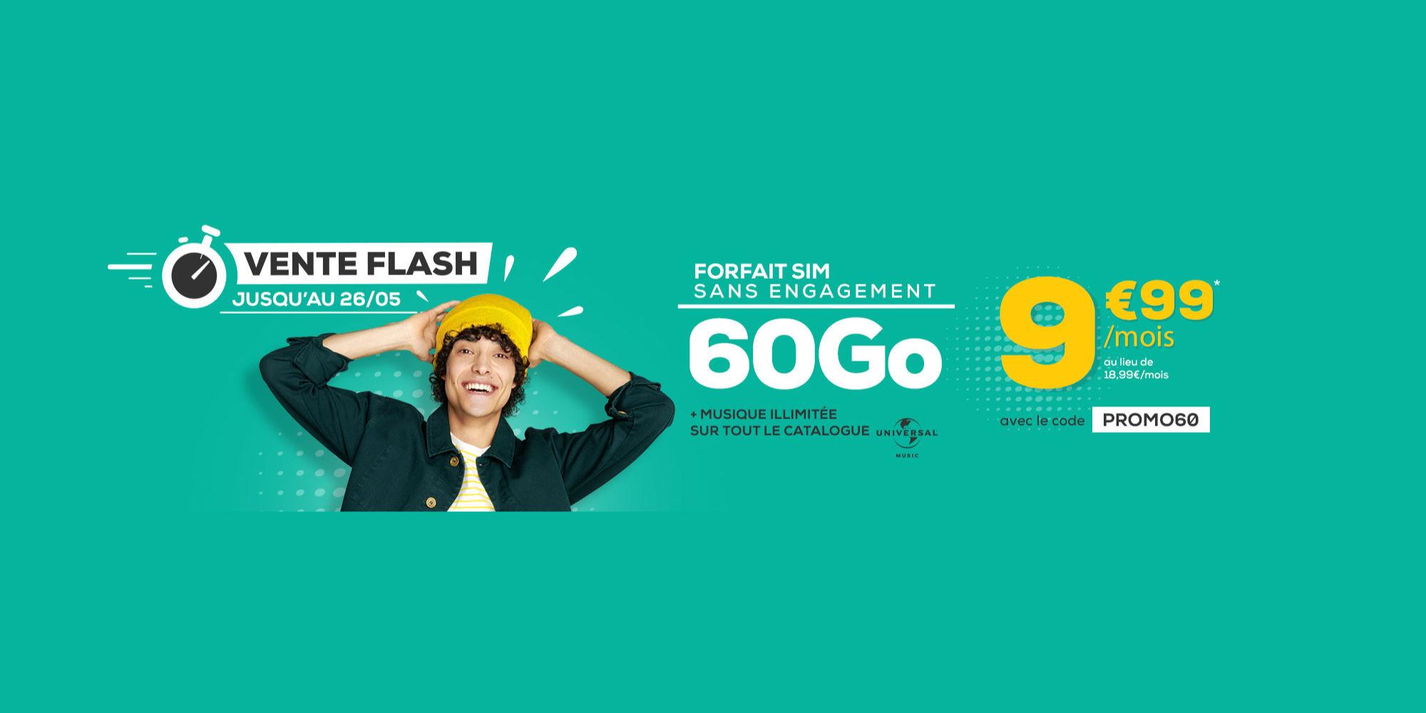 Bon plan : le forfait 60 Go de données mobiles est à 9,99 euros à vie chez La Poste Mobile