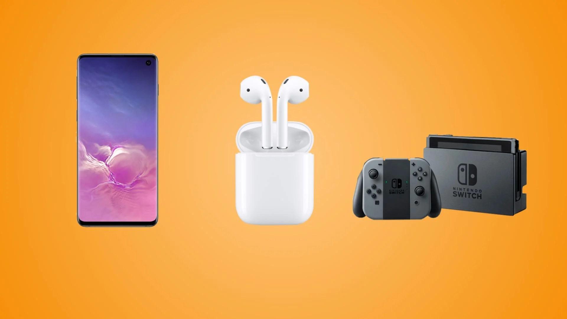 Samsung Galaxy S10 à 539 euros, Apple AirPods 2 à 142 euros et Nintendo Switch à 260 euros pour les soldes Rakuten