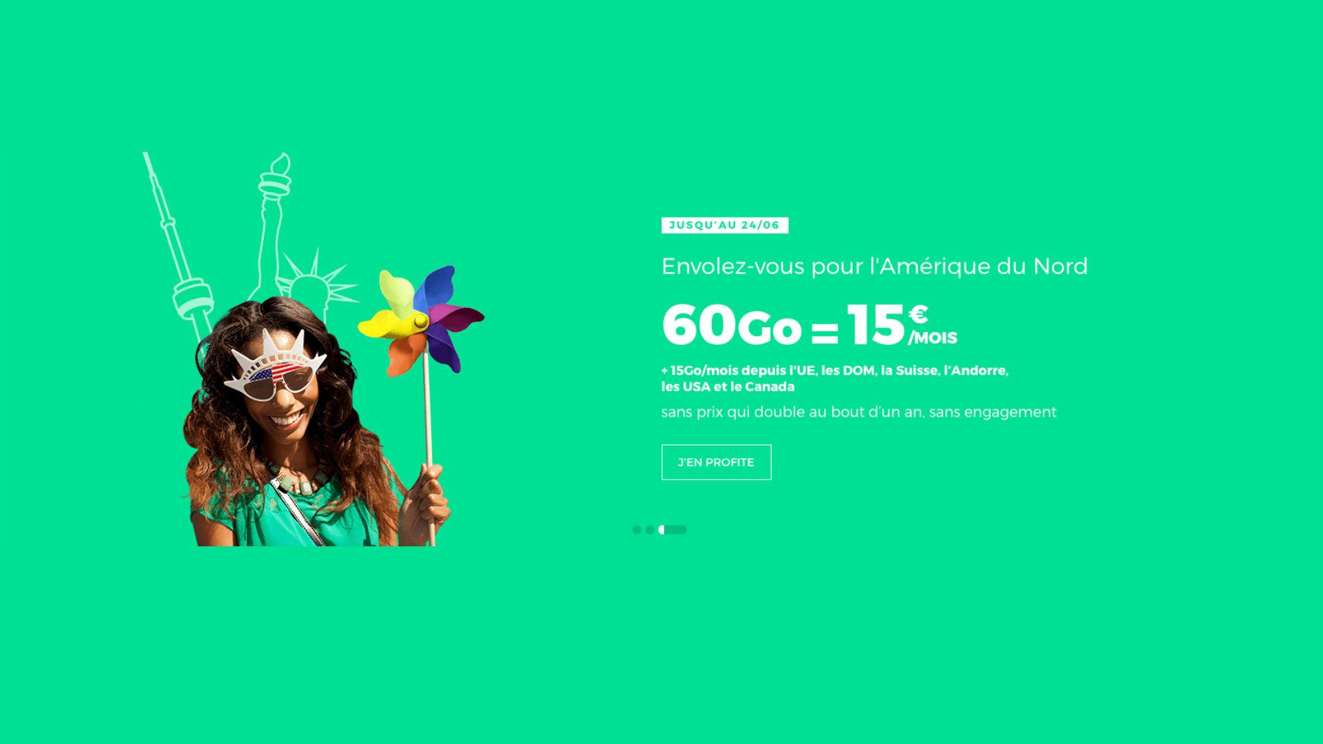 Anticipez vos vacances avec ce forfait mobile 60 Go pour 15 euros par mois seulement