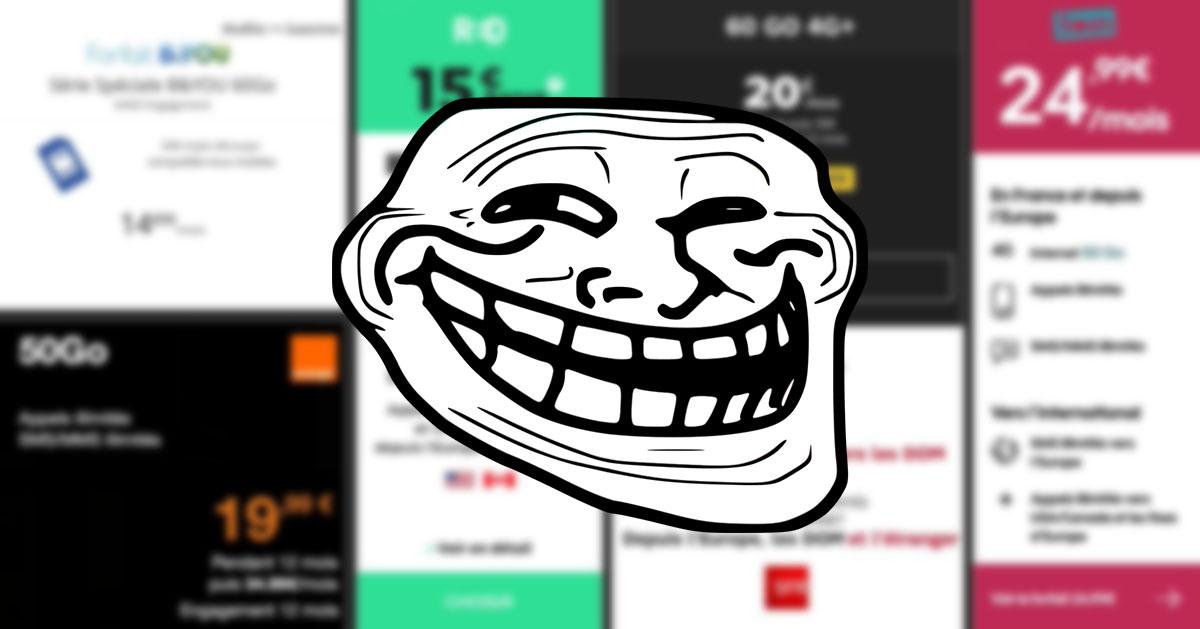 Free Mobile trolle ses « chers » concurrents en partageant leurs offres jugées trop élevées