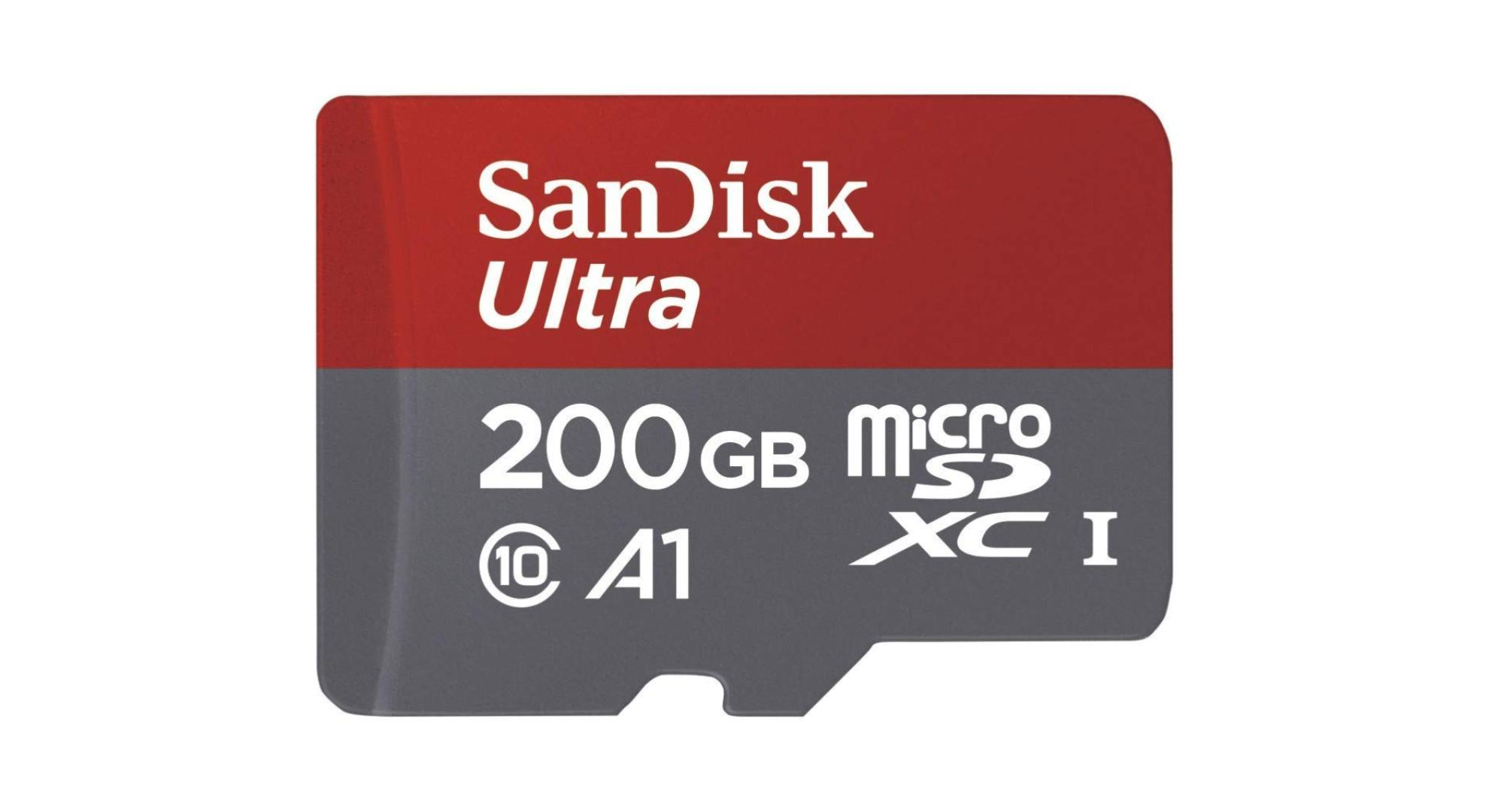 La carte microSD de 200 Go à 29,98 euros pour votre Switch, votre smartphone, votre tablette, votre Go Pro…