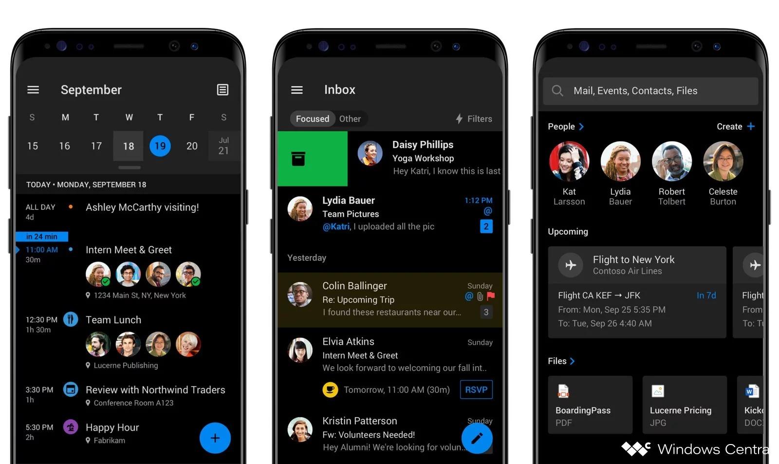 Outlook passe au thème sombre, juste à temps pour Android 10 Q
