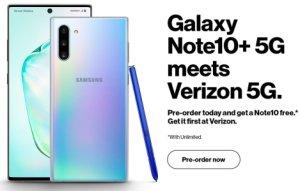 Samsung Galaxy Note 10+ 5G : une image en fuite confirme son existence
